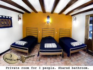 Private room for 3 shared bathroom - Palace Hostel - Barcelona vacation rentals