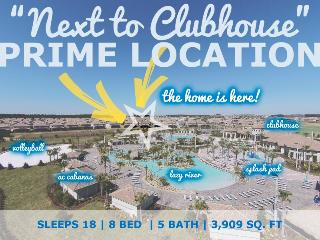 Next to Clubhouse - 8 Bed Villa with South Facing Pool, Steps to Champions Gate Clubhouse, Pool and Lazy River! - Four Corners vacation rentals