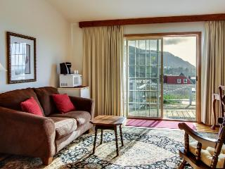 Enjoy ocean views from the shared deck of this lovely dog-friendly suite! - Yachats vacation rentals
