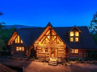 Undamaged! Show your support for area~ Luxury Log Lodge, 7 BR, Sleeps 28, Views - Gatlinburg vacation rentals