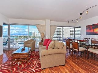 BEAUTIFUL Remodeled Condo with Ocean, Marina, & Sunset Views! Large Lanai! - Waikiki vacation rentals