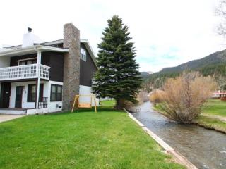 Claim Jumper Townhouse #12 - Corner Unit on the River, Next to Fishing Ponds, In Town, Ski In/ Ski Out, WiFi, King Bed, Washer/D - Red River vacation rentals