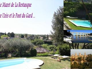 Uzes & Pont du Gard : 2 Gites +swimmingpool+river - Cornillon vacation rentals