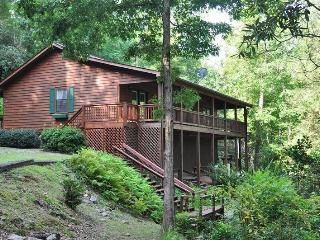 Greens Creek Fishing Retreat - 10 Minutes from Rafting on the Tuckaseegee River, This Log Cabin Features Fly Fishing Right Out the Back Door - Dillsboro vacation rentals