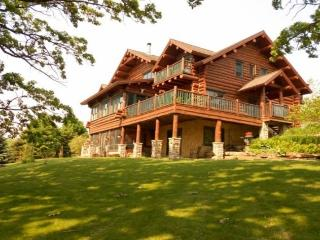 Beautiful Full Log Lodge on 44 Acres - Blue Mounds vacation rentals