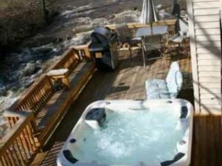 3Br HOT TUB 20ft above River, FIRE PLACE, GAMEROOM - Bat Cave vacation rentals