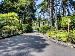 Bayfront home with a gym, sauna, game room, & hot tub! - North Bend vacation rentals