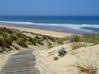 Sunny studio apartment on the beach in Lacanau Ocean, with stunning sea views from its terrace - Ares vacation rentals