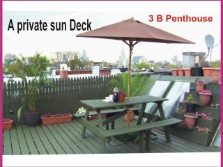 3B Condo 3 Levels PH Private sundeck City View - Hudson Valley vacation rentals