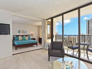 Partial Ocean View, one-bedroom with AC, WiFi, parking, short walk to beach! - Waikiki vacation rentals