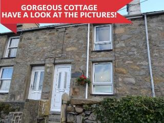 Quarrymans Cottage at Trefor in Snowdonia - 20 mins drive from Morfa Nefyn. - Trefor vacation rentals