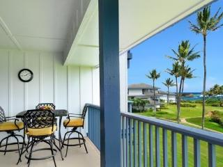 Poipu Sands 222 OCEAN VIEW 2bd/2bath, Pool, tennis courts. Free mid-size car. - Koloa vacation rentals