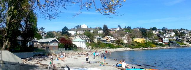Beautiful sandy beach 2 Blocks away, seaside walk continues for 5km to James Bay - Beechwood 2Br Apartment - Victoria - rentals