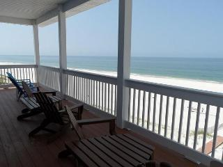 Fantastic gulf-front, pet-friendly 5 BR with 5.5 Bath and 5 decks - Cape San Blas vacation rentals