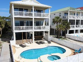 Beachfront, Private Heated Pool and Spa, 5 Masters; North Cape 11/28 $2270/wk - Cape San Blas vacation rentals