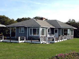 PRIVATE BEACHFRONT HOUSE WITH PANORAMIC VIEWS OF VINEYARD SOUND - West Tisbury vacation rentals