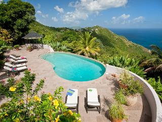 Enjoy the ocean views from this 10- acre property. MAT CAN - Tortola vacation rentals