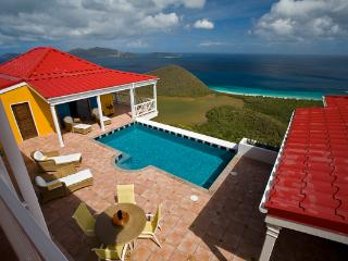 Sunny villa with a wide view of neighboring islands and the sea. MAT SUP - Belmont vacation rentals