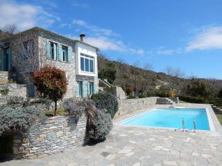 Stonebuilt villa with pool-breathtaking panorama - Agios Georgios Nilias vacation rentals