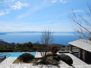 Stonebuilt villa with pool-breathtaking panorama - Agios Georgios Nilias vacation rentals