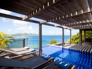 Indonesian style villa high above the ocean with spectacular views WV AMA - Pointe Milou vacation rentals