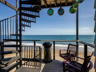 Beachfront with 3 decks, 2 modern kitchens & full of unique character - Miramar Dolphin Den - Montecito vacation rentals