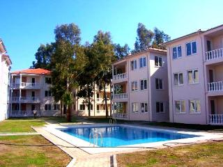 Bright, modern apartment near the Turkish Aegean Coast, with pool, air con and garden view - Dalaman vacation rentals
