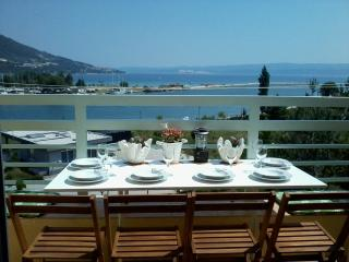 Beautiful sea view near send beach in modern attic - Omis vacation rentals