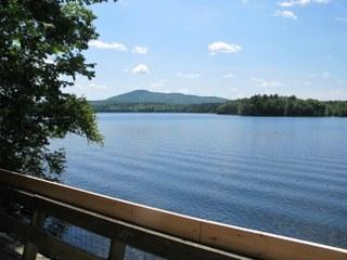Lake view from deck - Waters Edge - Lincolnville - rentals