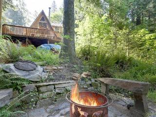Warm and cozy riverside cabin with a jetted tub - escape to the jetted tub! - Rhododendron vacation rentals