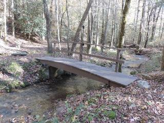 Secluded 1 1/2 acre cabin on a Creek - Ellijay vacation rentals