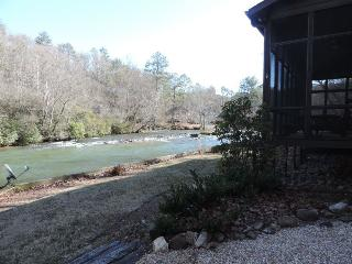 Secluded River Cabin in the Coosawattee River Resort - Ellijay vacation rentals