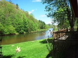 """""""BY THE RIVER""""  Log Home On The New River - LOW MAY RATES! - Jefferson vacation rentals"""