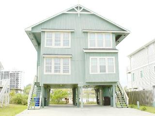 Beach house on the canal with private deck, across the street from beach. - Carolina Beach vacation rentals