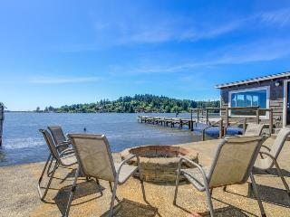 Premier lakefront home w/private hot tub, gorgeous views & private dock -dogs ok - Otis vacation rentals