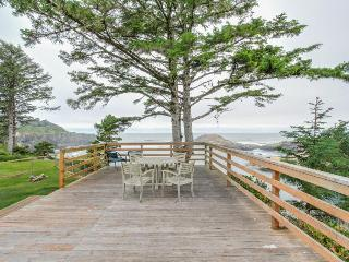Oceanfront, oceanview cabin - whale-watch from the huge deck - Depoe Bay vacation rentals