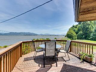 Relax across from the water - bay views & private hot tub! - Cape Meares vacation rentals