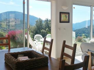 Stylish villa in South Corsica between the sea and the mountains, fenced garden, view & WiFi - Serra-di-Scopamene vacation rentals