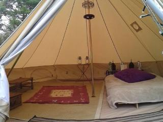 Glamp at The Valley Campsite (Furnished Bell Tent) - Llanteg vacation rentals