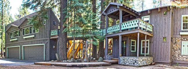 Front of House and Apartment on Left - 3 Story Riverfront Custom Home With Stunning Views - South Lake Tahoe - rentals