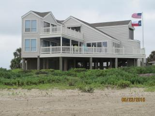 Beachfront Home with Unobstructed Gulf View - Galveston vacation rentals