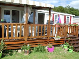 Nice Caravan/mobile home with Swing Set and Television - Litteau vacation rentals