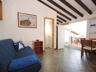 Beachfront studio for two with a sea view terrace - Arbanija vacation rentals