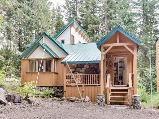 Cozy, riverfront cabin w/ private hot tub, close to ski access! - Government Camp vacation rentals