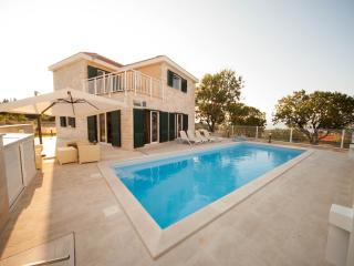 Lovely villa with large pool and a sea view - Skrip vacation rentals
