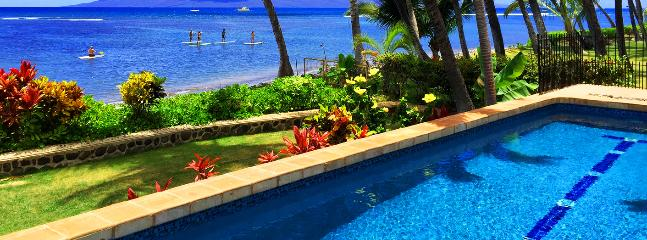Gorgeous White-Washed Lahaina Villa ~ Oceanfront with Stunning Views! - Image 1 - Lahaina - rentals