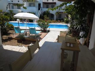 Contemporary Mykonian style ground floor apartment - Ornos vacation rentals