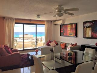 Beach front 3 bed condo in Plaza Kukulkan area - Cancun vacation rentals