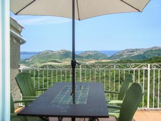 Stunning villa apartment in Barbaggio w/ BBQ terrace, kids' pool, WiFi, mountain- & sea views - Barbaggio vacation rentals