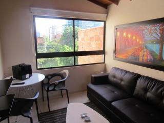 1 bedroom Hot Tub 3 blocks Lleras 10 meg wifi 302 - Medellin vacation rentals